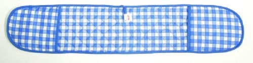 BLUE COLOUR CHECK DOUBLE OVEN GLOVE QUILTED 100% COTTON